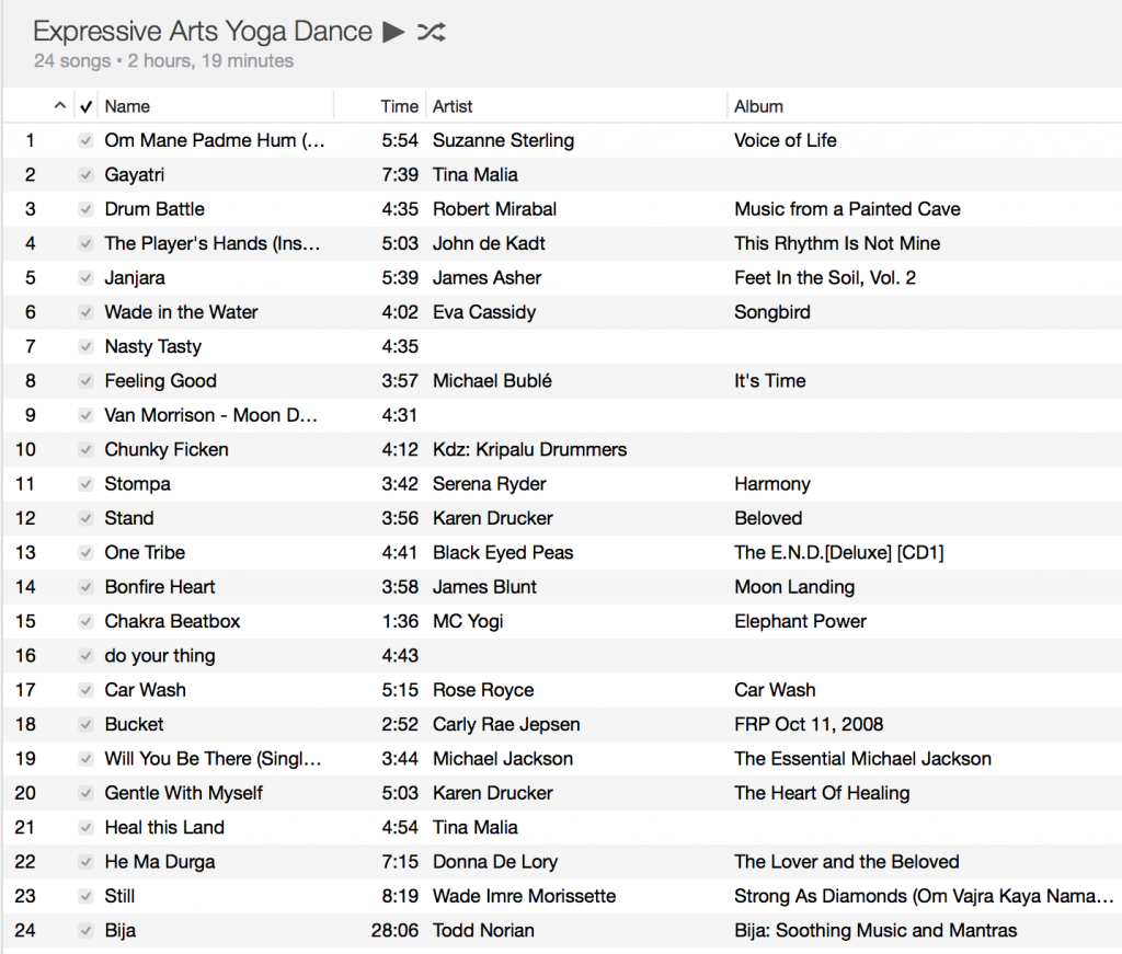 Yoga Dance Playlist