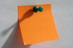 post it note orange blank